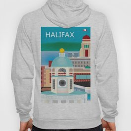 Halifax, Nova Scotia, Canada - Skyline Illustration by Loose Petals Hoody