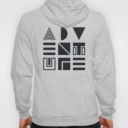 Geometric Adventure B&W Hoody