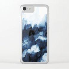 Indigo watercolor 2 Clear iPhone Case