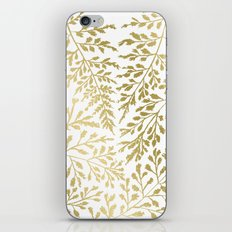 Gold Leaves iPhone Skin