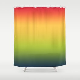 Abstract Colorful Tropical Blurred Gradient Shower Curtain