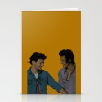 larry stylinson Stationery Cards featuring Pop Art Larry Stylinson 2 by JodiYoung