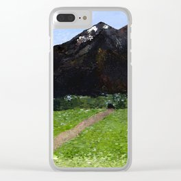 Mountain Pass Clear iPhone Case
