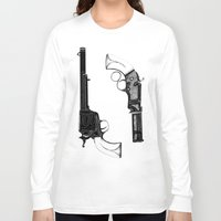 guns Long Sleeve T-shirts featuring Two Guns by Broenner