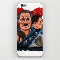 jaws iPhone & iPod Skins featuring JAWS by David Amblard