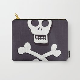Pirate Skull and crossbones flag Carry-All Pouch