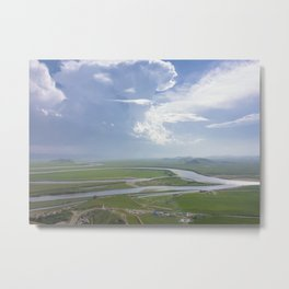 Yellow River in Sichuan, China Metal Print