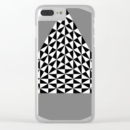Black and White Puzzle Trigon Clear iPhone Case