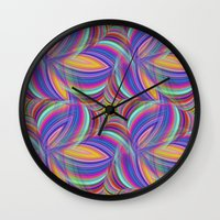 psychedelic Wall Clocks featuring Psychedelic by David Zydd