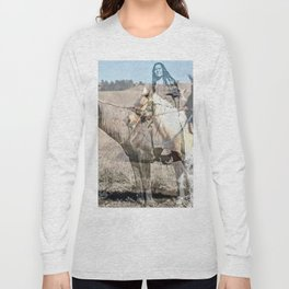 She never rides alone Long Sleeve T-shirt
