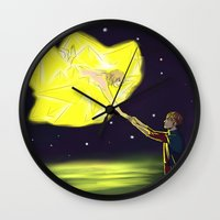 snk Wall Clocks featuring TO TOUCH A STAR by jean-huh-kirschnickerdoodle