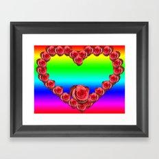 ROSE RAINBOW LOVE Framed Art Print