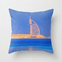 Burj AL Arab Art Throw Pillow