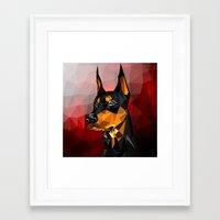 doberman Framed Art Prints featuring Doberman by Ruveyda & Emre