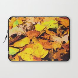 Colorful background of autumn leaves Laptop Sleeve
