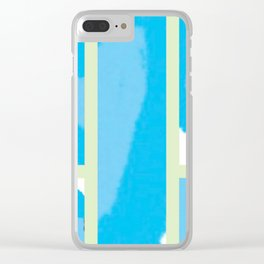 Expressive Windows of Blue and Green Clear iPhone Case