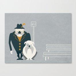Mr. Mustachio Canvas Print
