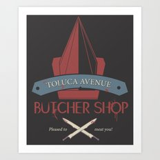 The Silent Butcher Art Print