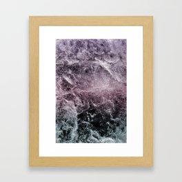 Enigmatic Dark Night Marble #1 #decor #art #society6 Framed Art Print