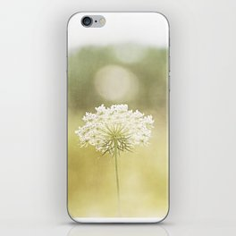 Queen Anne's Lace Nature Photography, Pale Yellow Floral Photography iPhone Skin