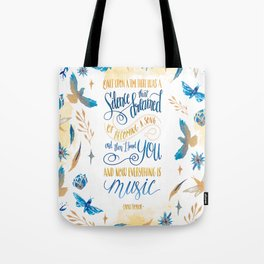 SILENCE THAT DREAMED OF BECOMING A SONG Tote Bag