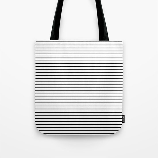 Minimal Stripes Tote Bag