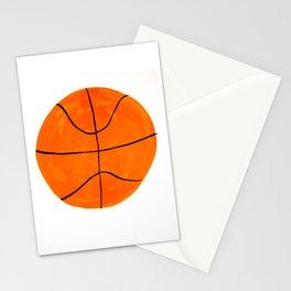 Orange Basketball Stationery Cards