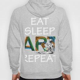 Eat Sleep Art Repeat Artist I arted Art Teacher Hoody
