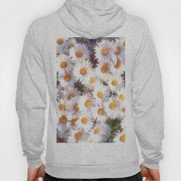 Spring Daisy Wildflower Watercolor Hoody