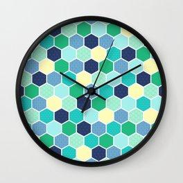 Galactic Hexagons 2 Wall Clock