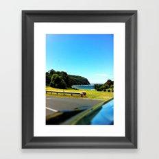 Coast from Car Framed Art Print