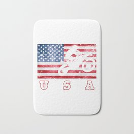USA Motocross - Flag of America Bath Mat