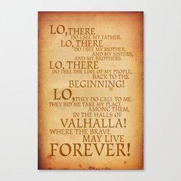 Viking Prayer Canvas Print