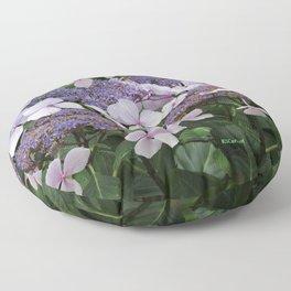 Hydrangea Violet Hues Floor Pillow