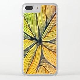 Doodled Aura-Leah Digitized Macro Clear iPhone Case