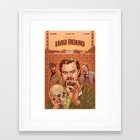 django Framed Art Prints featuring DJANGO by BONES ART