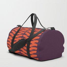 Zigzag red Duffle Bag