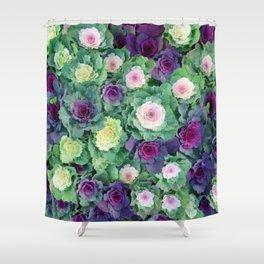 Ornamental kale Shower Curtain