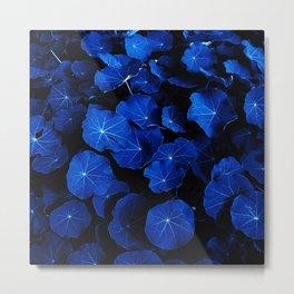 blue leafs XIV Metal Print