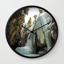 The Queen of Maligne Canyon, Jasper National Park Wall Clock