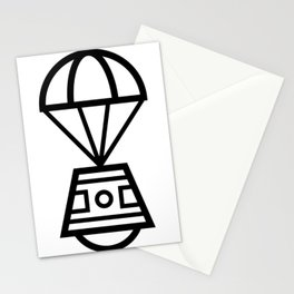 Parachuting Pod Icon Stationery Cards