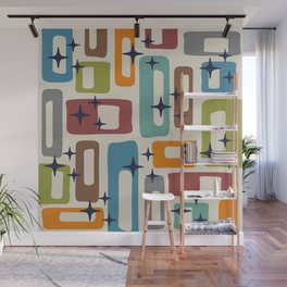 Retro Mid Century Modern Abstract Pattern 224 Wall Mural