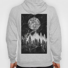 marble black and white landscape Hoody