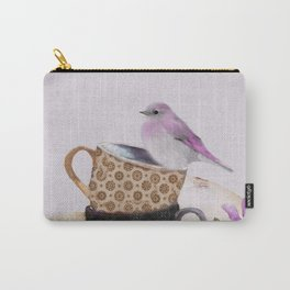 Bird in tea cup Carry-All Pouch