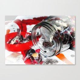 Christmas Candy Jar Canvas Print