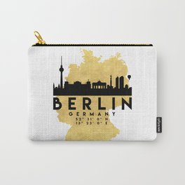 BERLIN GERMANY SILHOUETTE SKYLINE MAP ART Carry-All Pouch