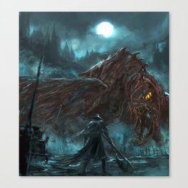 Beasts all over the shop Canvas Print