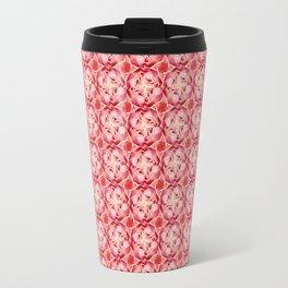 Red Pink and White Rose Travel Mug