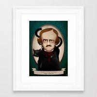 edgar allan poe Framed Art Prints featuring Edgar Allan Poe said... by Mrs Peggotty