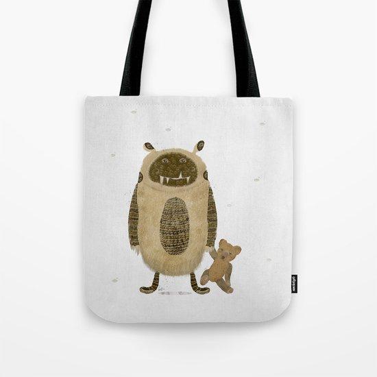 monster and bear Tote Bag